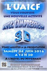 Nouvelle activité à Nevers : l'impression 3D