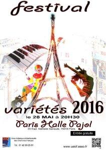 Samedi 28 mai 2016 : festival national de variétés à Paris