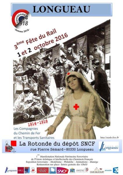 1er et 2 octobre 2016 : Fête du rail à Longueau