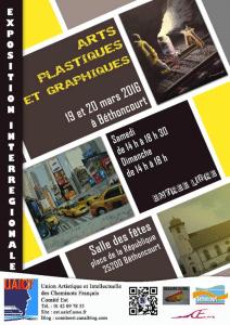 19 et 20 mars 2016 : Exposition d'arts graphiques et plastiques