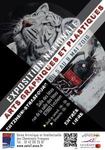 Du 5 au 8 mai 2016 : exposition nationale des arts graphiques et plastiques à Entzheim