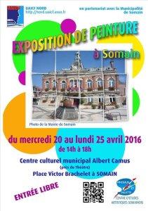 20 au 25 avril 2016 : Exposition des arts graphiques et plastiques à Somain