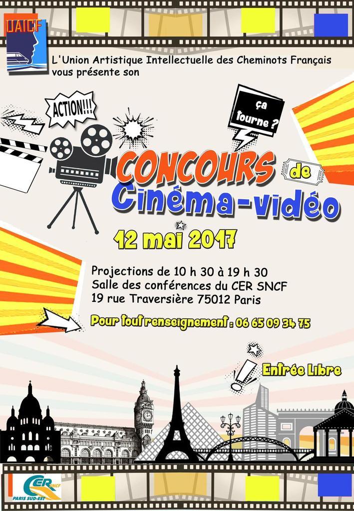 Samedi 12 mai 2017 : concours national de cinéma-vidéo à Paris