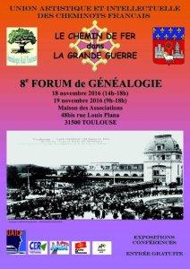 18 et 19 novembre 2016 : Forum de généalogie