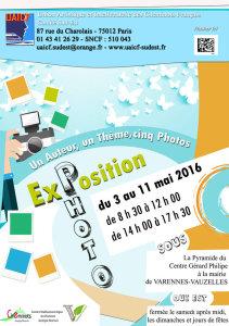 Du 3 au 11 mai 2016 : exposition Photo à Varennes-Vauzelles