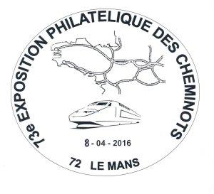 8 et 9 avril 2016 : exposition philatélique au Mans