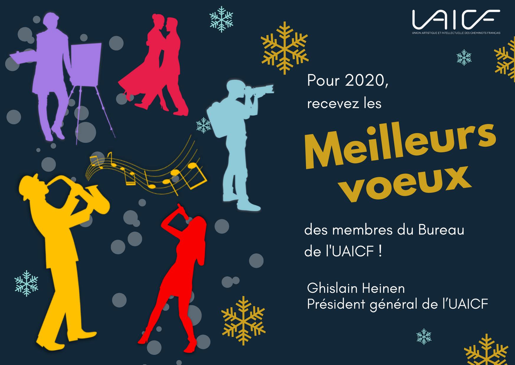 bonnes fêtes de fin d'année et meilleurs voeux 2020 !
